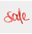 sale red watercolour vector image vector image