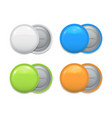 set colorful badges on white vector image