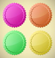 set colourful circle labels vector image vector image
