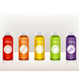 set of juice bottles with fruit icons vector image vector image