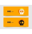 Set of two banners with carved skull vector image vector image