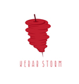 simple flat of storm doner kebab vector image