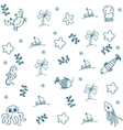 Sketch of sea life elements doodle vector image