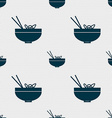 Spaghetti icon sign Seamless pattern with vector image vector image