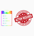 spectral dotted text pad icon and scratched vector image vector image