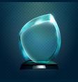 sport trophy or transparent achievement sign vector image vector image