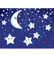 starry night vector image vector image