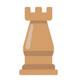 Strategic plan flat icon business and rook chess vector image