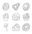sweet and product logo vector image vector image