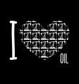 Symbol heart of oil pumps I love oil vector image