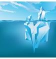 Background with Iceberg vector image