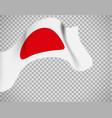 japan flag on transparent background vector image