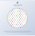 abstract cross pattern colorful on white vector image vector image