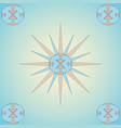 abstract ornament pattern of four ornaments in vector image vector image