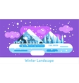 Abstract outdoor winter landscape Trees and vector image vector image