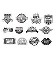 bike badge vintage style set vector image vector image