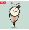 Businessman hold time bomb vector image