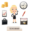 businesswoman set vector image vector image