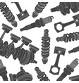 car parts background vector image vector image