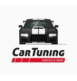 Car tuning shop banner sticker auto vector image vector image