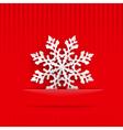 Christmas background with big snowflake vector image vector image