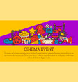 cinema event poster flyer media production vector image vector image