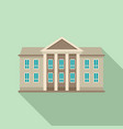 classic courthouse icon flat style vector image