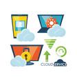 cloud service design vector image
