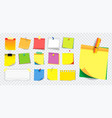 colorful sticky note or ripped paper vector image