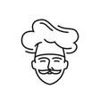 cook chef logo restaurant cafe menu icon vector image