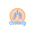 covid19-19 icon - human lungs affected virus vector image