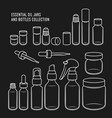 essential oil jars and bottles design set vector image vector image