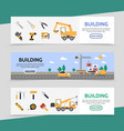 flat building industry horizontal banners vector image vector image