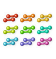 flat cartoon dumbbells set vector image vector image