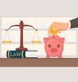 flat payment legal services vector image vector image