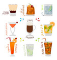 for sweet alcohol cocktail in glass vector image