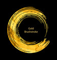 gold round design templates for for poste vector image vector image
