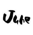 hand drawn lettering element months set vector image