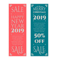 happy new year and christmas banners set vector image vector image