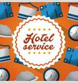 hotel building service vector image