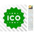 ico token flat icon with bonus vector image