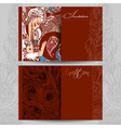 invitation template in oriental vector image vector image