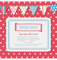 invite and bunting background landscape vector image vector image