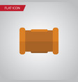 isolated cast iron flat icon pipe element vector image vector image