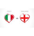 italy vs england flag emblem white banner vector image vector image
