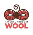 knitting wool clew bow icon for natural vector image