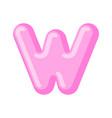 letter w candy font caramel alphabet lollipop vector image vector image