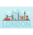 london cityscape flat color vector image