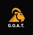 luxury golden goat logo vector image vector image