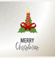 merry christmas candle background vector image vector image